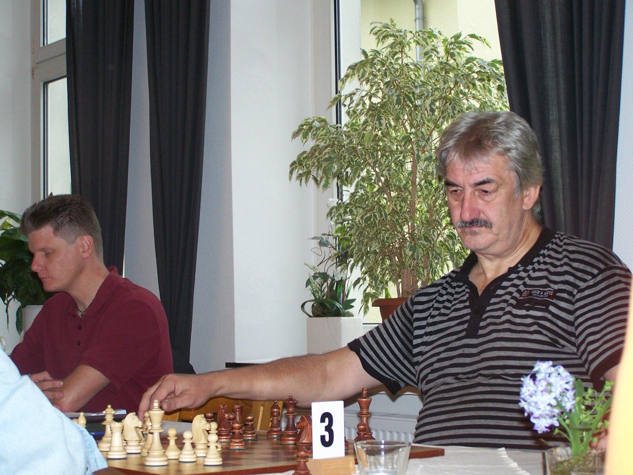 Roland Mecklenburg in der 1. Runde
