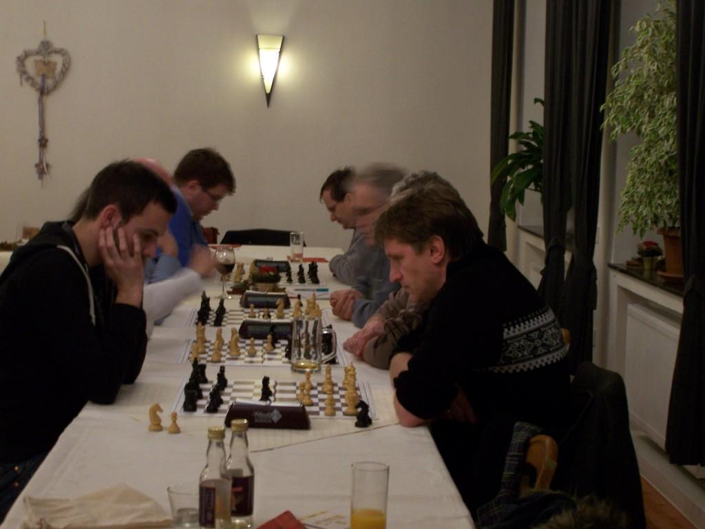 Die 3. Runde der A-Gruppe, im Vordergrund: Frank Stubbe - Michael Glahn
