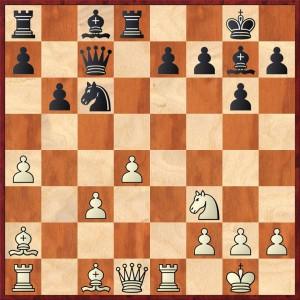 Glahn - Berger, Stellung nach 14...Td8