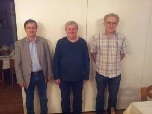 Sieger Peter Trzaska (Mitte) flankiert von Frank Block (2., links) und Franz Schulze Bisping (3., rechts)